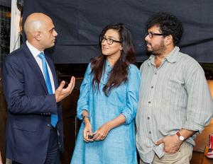 Sajid with Rituparna Sengupta