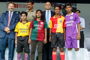 Sajid at Kolkata Goalz launch