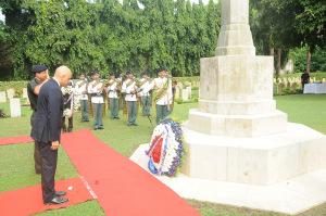 Sajid at Kolkata war graves