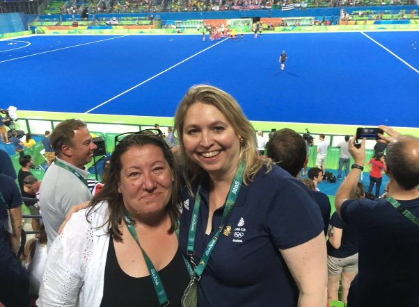 Meeting GB Hockey COO Sally Munday in #Rio2016