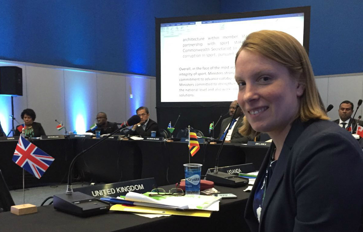 Tracey Crouch represents UK at Commonwealth Sports Ministers meeting in Rio