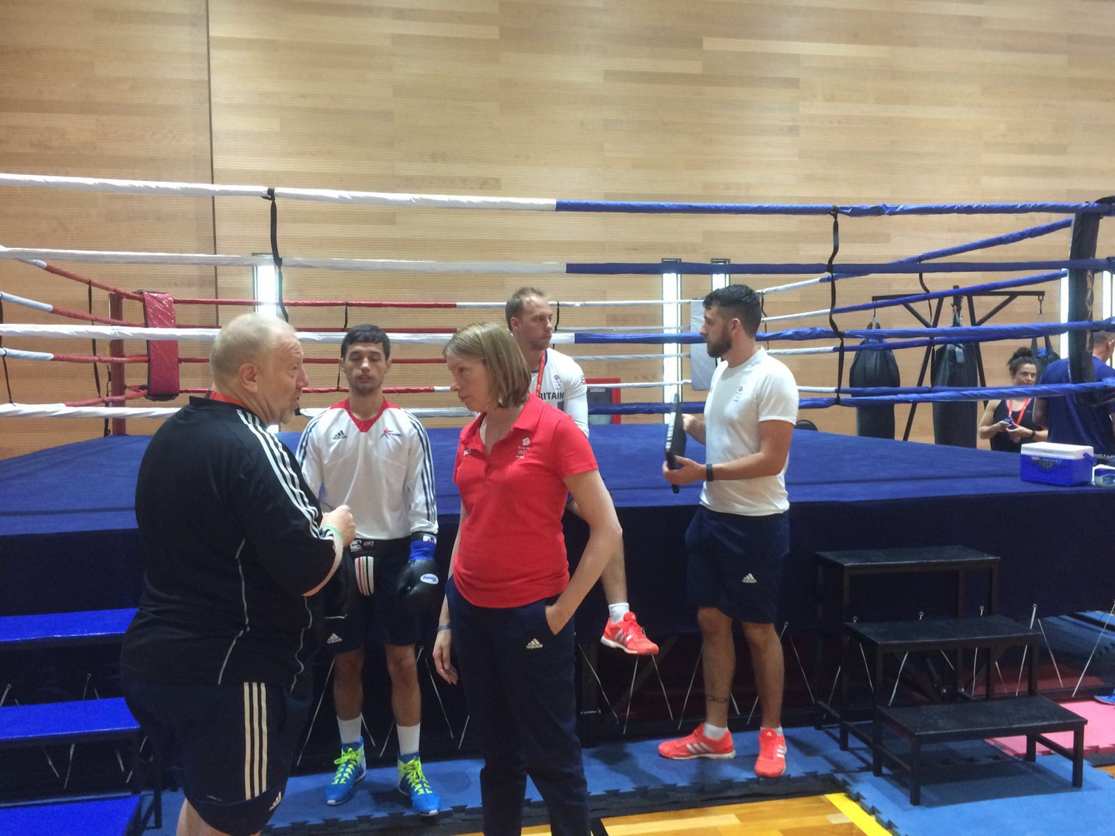 Sports Minister Tracey Crouch meets Team GB boxers