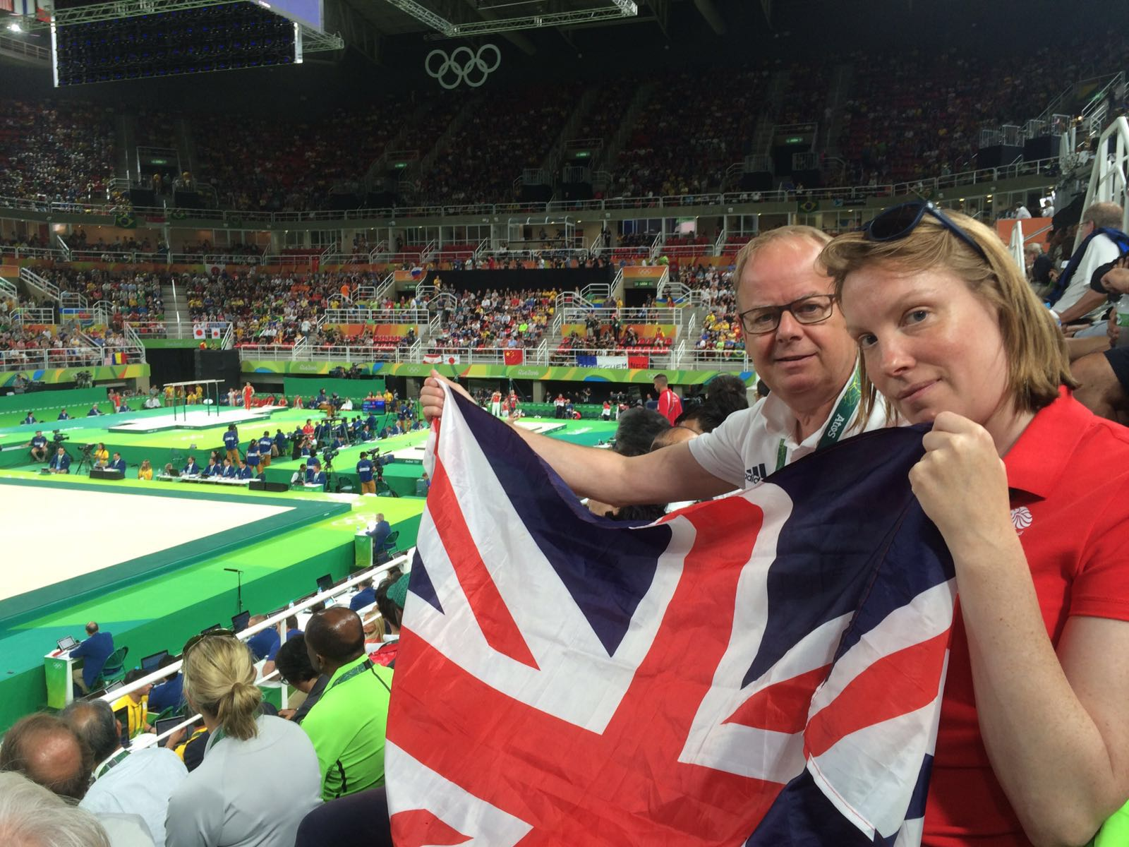 Sports Minister Tracey Crouch with TeamGB Chef de Mission Mark England