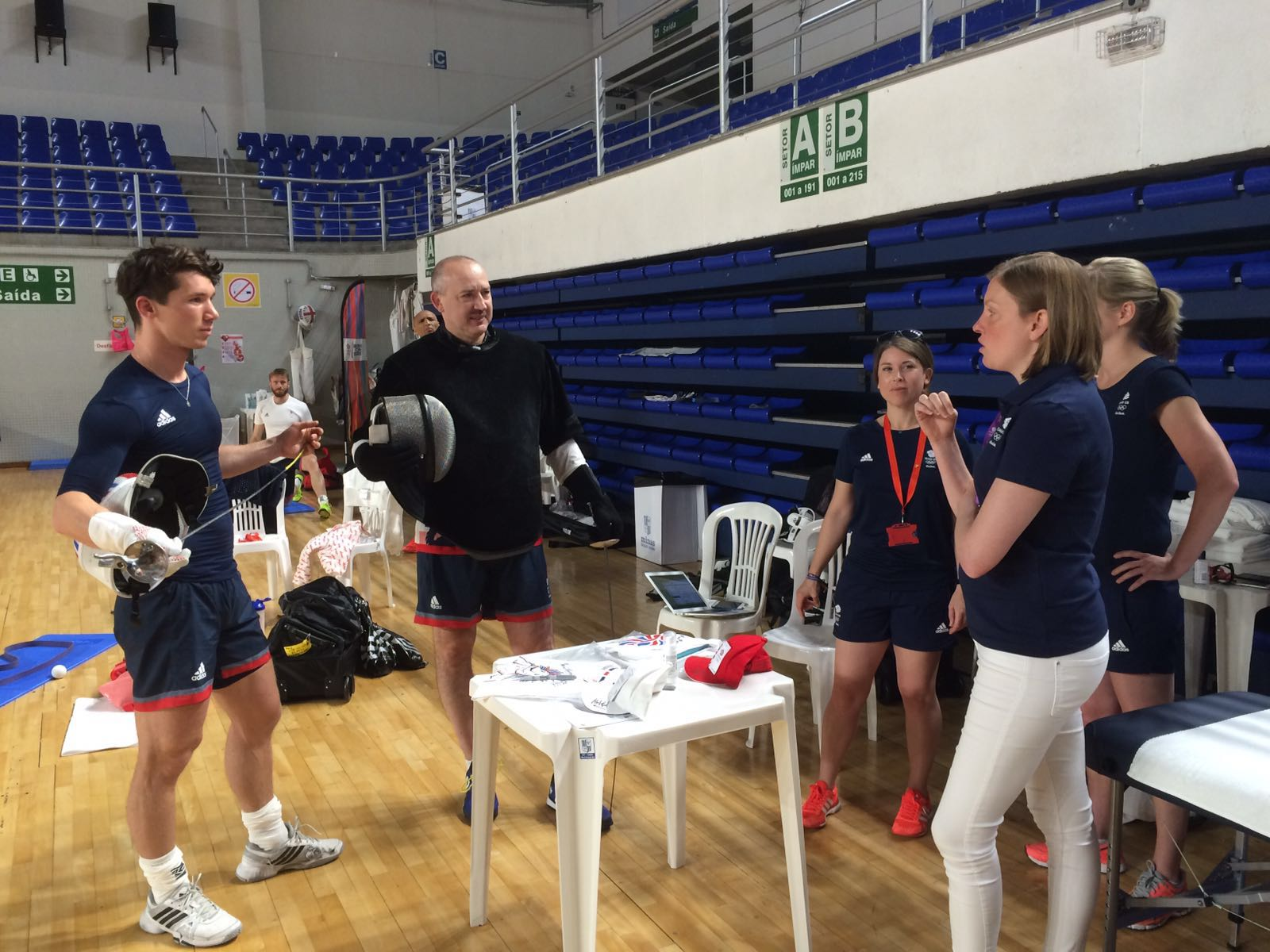 Tracey Crouch visit Team GB in Rio