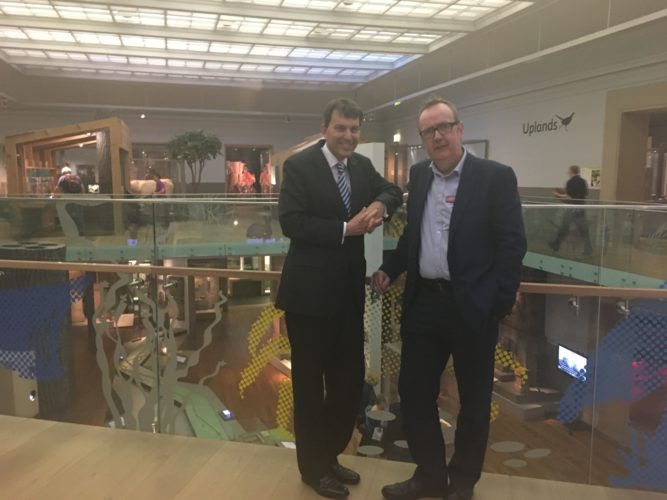 With Iain Watson, Director of Tyne & Wear Archives and Museums