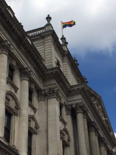 Pride flag DCMS 2017