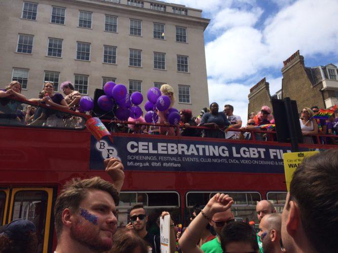 Pride BFI bus 2017