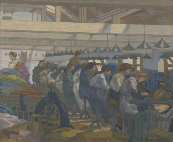 Charles Ginner (1878–1952) The Blouse Factory 1917, oil on canvas © Copyright Reserved