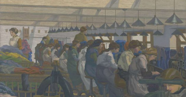 Charles Ginner (1878–1952) The Blouse Factory 1917, oil on canvas