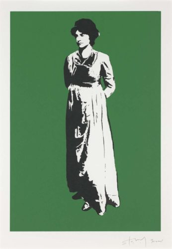 Stewy: Mary Wollstonecraft 2015, screenprint © STEWY