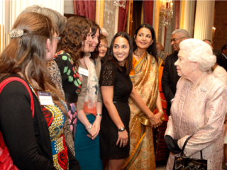 HRH The Queen with Points Of Light volunteers