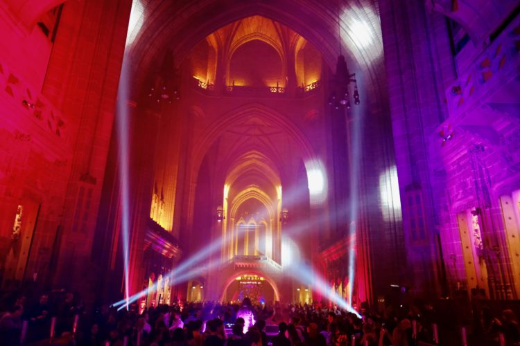 Liverpool Light Night Cathedral interior credit Pete Carr courtesy of Open Culture