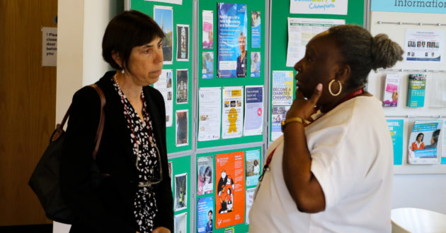 Baroness Barran on a visit to the Paddington Development Trust