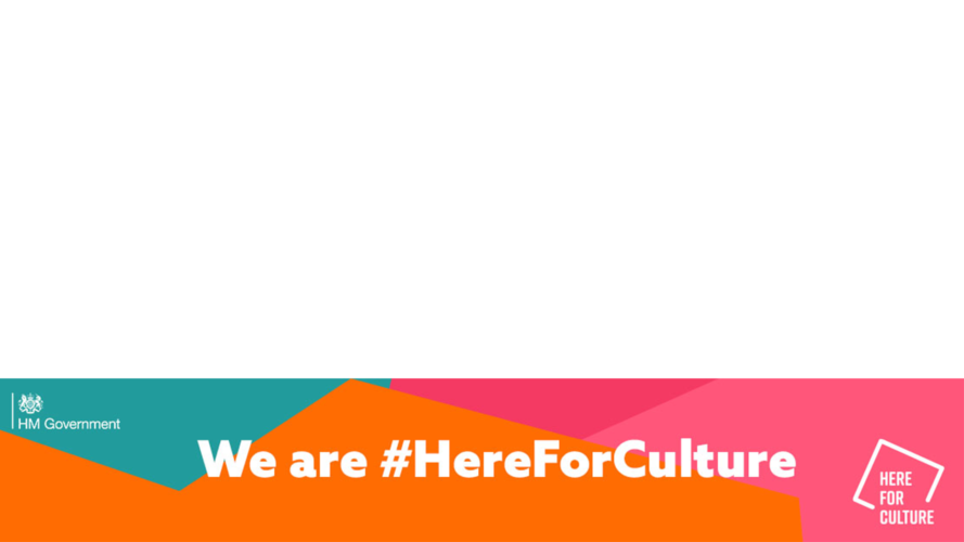 We are #HereForCulture frame on transparent background
