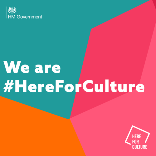 We are #HereForCulture graphic on branded background
