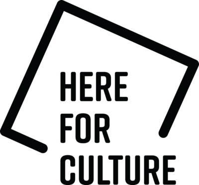 Here for Culture logo in black