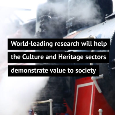 World-leading research will help the Culture and Heritage sectors demonstrate value to society