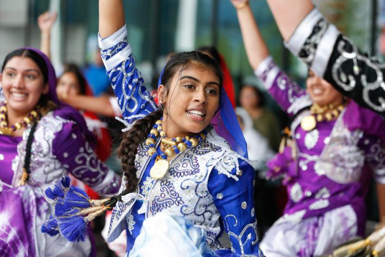 Dancers at Birmingham 2022 cultural event