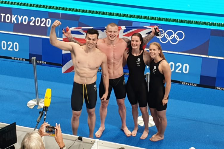 Team GB win gold in the mixed relay