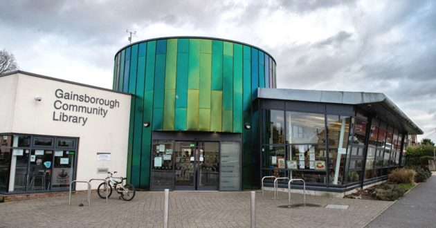 The entrance of Gainsborough Community Library